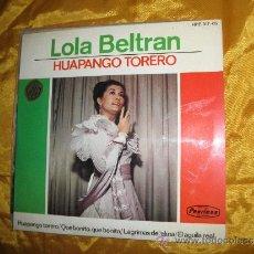 Discos de vinilo: LOLA BELTRAN. HUAPANGO TORERO. EP . HISPAVOX 1965. IMPECABLE. Lote 33542269