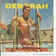 Discos de vinilo: SINGLE DEBORAH SAN REMO 68. Lote 33546985
