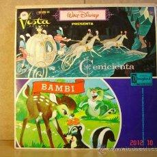 Discos de vinilo: WALT DISNEY PRESENTA: CENICIENTA / BAMBI - VISTA-HISPAVOX HL 080-03 - 1968 . Lote 33557269