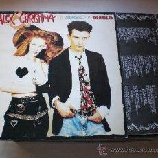 Discos de vinilo: ALEX & CHRISTINA ROSENVINGE, ANGEL Y DIABLO LP CBS ESPAÑA 1989 CON ENCARTE MOVIDA, NUEVO A ESTRENAR. Lote 33562724