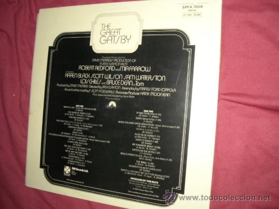 Discos de vinilo: EL GRAN GATSBY (THE GREAT GATSBY LP BANDA SONORA ORIGINAL NELSON RIDDLE PORTADA DOBLE SWEDEN - Foto 3 - 33563699