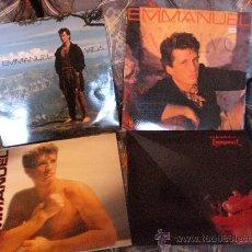Discos de vinilo: EMMANUEL, LOTE 4 LPS. RCA AÑOS 80, CON ENCARTES, NUEVOS. VER TITULOS VER *. Lote 33565153