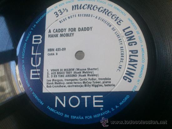 Discos de vinilo: Hank mobley A caddy for daddy lp Blue note Original 1968 HBN 451 09 - Foto 4 - 139459546