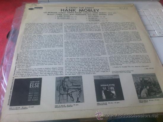 Discos de vinilo: Hank mobley A caddy for daddy lp Blue note Original 1968 HBN 451 09 - Foto 2 - 139459546