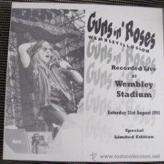 Discos de vinilo: GUNS 'N' ROSES - WEMBLEY ILLUSION - LP DIRECTO. Lote 33574711