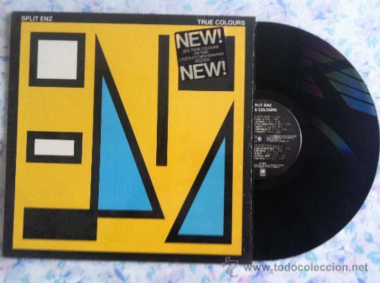 LP- SPLIT ENZ-TRUE COLOURS (Música - Discos - LP Vinilo - Pop - Rock - Extranjero de los 70)