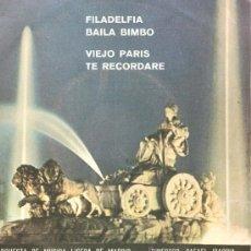 Discos de vinilo: EP ORQUESTA DE MUSICA LIGERA DE MADRID, DIRIGIDA POR RAFAEL IBARBIA : FILADELFIA + 3 . Lote 33589937