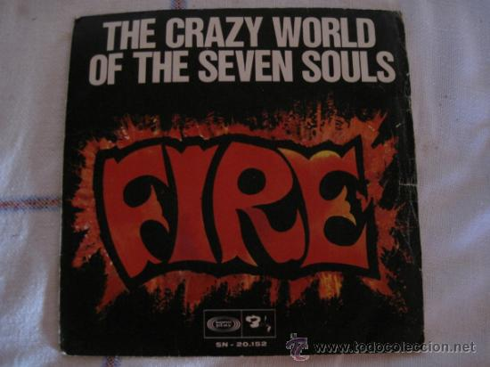 THE CRAZY WORLD OF THE SEVEN SOULS - FIRE - SONO PLAY 1968 (Música - Discos - Singles Vinilo - Funk, Soul y Black Music)