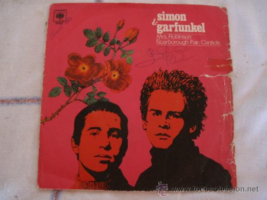 SIMON & GARFUNKEL : MRS. ROBINSON - CBS : AÑO 1968 (Música - Discos - Singles Vinilo - Cantautores Internacionales)