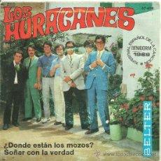 Discos de vinilo: LOS HURACANES ¿DONDE ESTAN LOS MOZOS? + 1 SINGLE BELTER 1969 @ BEAT ESPAÑOL @ UN SINGLE COMO NUEVO. Lote 33127736