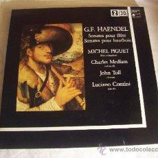 Discos de vinilo: G.F.HAENDEL.SONATES POUR FLUTE,SONATES POUR HAUTBOIS. HARMONIA MUNDI 1986. Lote 33598673
