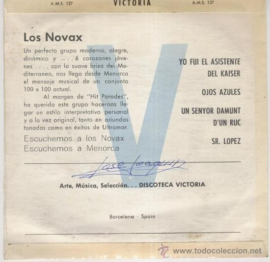 Discos de vinilo: LOS NOVAX - YO FUI EL ASISTENTE DEL KAISER + 3 - EP SPAIN 1967 VG++ / VG++ - Foto 2 - 33613574