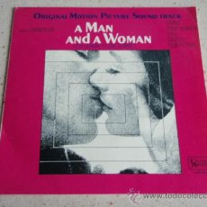 Discos de vinilo: 'A MAN AND A WOMAN' NICOLE CROISILLE - PIERRE BAROUH ( VOCAL - SAMBA SARAVAH - TODAY IT'S YOU .... Lote 33619281