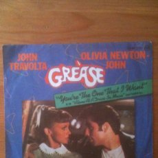 Discos de vinilo: GREASE - YOURE THE ONE THAT I WANT - AÑO 1978 - J.TRAVOLTA & O.NEWTON JOHN. Lote 33621979