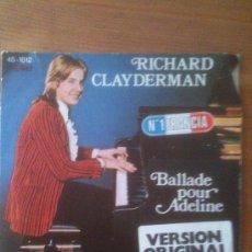 Discos de vinilo: RICHARD CLAYDERMAN - BALLADE POUR ADELINE - HISPAVOX - AÑO 1977. Lote 33622070