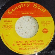 Discos de vinilo: STELLA PARTON ( ODE TO OLIVA - I WANT TO HOLD YOU IN MY DREAMS TONIGHT ) USA SINGLE45 COUNTRY. Lote 33623210