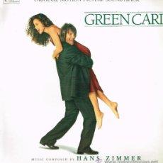 Discos de vinilo: GREEN CARD. ORIGINAL MOTION PICTURE SOUNDTRACK - LP 1991. Lote 33628373