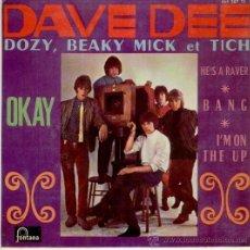 Discos de vinilo: DAVE DEE, DOZY, BEAKY, MICK & TICH - OKAY + 3 - EP SPAIN 1967 - EX / EX. Lote 33631282
