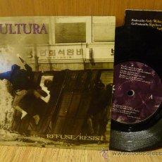 Discos de vinilo: SEPULTURA REFUSE RESIST SINGLE VINILO EP POSTER . Lote 33637841