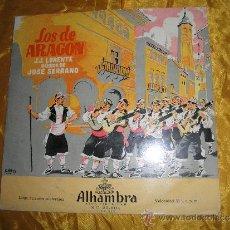 Discos de vinilo: LOS DE ARAGON. J.J. LORENTE, MUSICA JOSE SERRANO. DIRECTOR ATAULFO ARGENTA. 10 PULGADAS. Lote 33649723