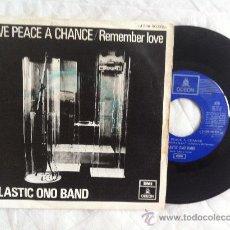 "Discos de vinilo: 7"" PLASTIC ONO BAND-GIVE PEACE A CHANCE/REMEMBER LOVE. Lote 33659376"