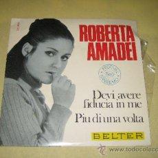 Discos de vinilo: ROBERTA AMADEI - SAN REMO 1967. Lote 33661946