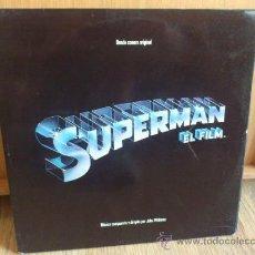 Discos de vinilo: SUPERMAN EL FILM BANDA SONORA EN DOBLE LP DE VINILO ORIGINAL 1978 . Lote 33669290
