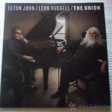 Discos de vinilo: ELTON JOHN / LEON RUSSELL - '' THE UNION '' 2 LP + LINK. Lote 33673221