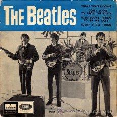 Discos de vinilo: THE BEATLES ··· WHAT YOU'RE DOING (+3) - (EP 45 RPM). Lote 33682077