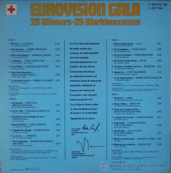 Discos de vinilo: LP DOBLE: EUROVISION GALA. 29 WINNERS 1956-1981 POLYDOR. SIN ESCUCHAR - Foto 2 - 33686174