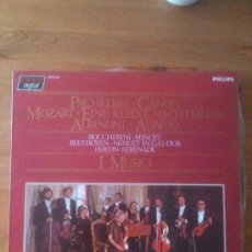 Discos de vinilo: I MUSICI - PACHELBEL - CANON - MOZART - ABINONI - BOCCHERINI - AÑO 1984. Lote 33690573