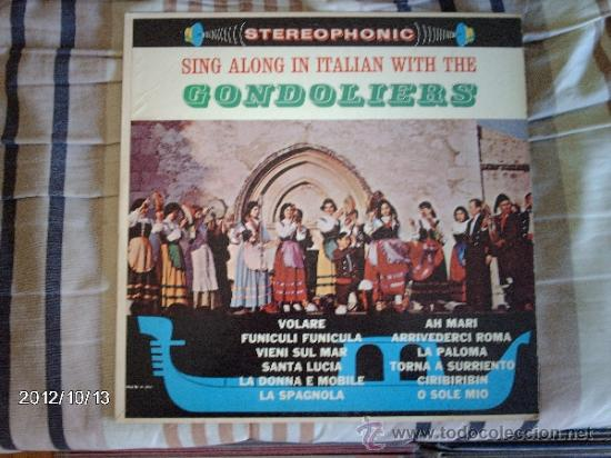 THE GONDOLIERS SING ALONG IN ITALIAN WITH THE GONDOLIERS (Música - Discos - LP Vinilo - Canción Francesa e Italiana)
