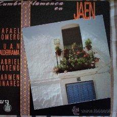 Discos de vinilo: CUMBRE FLAMENCA EN JAEN RAFAEL ROMERO - JUAN VALDERRAMA- GABRIEL MORENO- CARMEN LINARES. Lote 33711126
