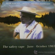 Discos de vinilo: BOB DYLAN MIXIN THE MEDICINE LP ED LIMITADA Nº 330/500 VINILO COLOR THE SAFETY TAPE JUNE OCT 1967. Lote 34322700