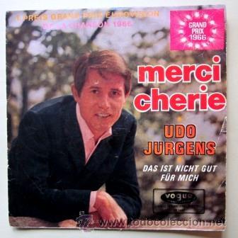 UDO JURGENS - MERCI CHERIE - EUROVISIÓN 1966 (Música - Discos - Singles Vinilo - Festival de Eurovisión)