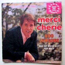 Discos de vinilo: UDO JURGENS - MERCI CHERIE - EUROVISIÓN 1966. Lote 33719093