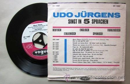 Discos de vinilo: UDO JURGENS - MERCI CHERIE - EUROVISIÓN 1966 - Foto 2 - 33719093