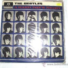 Discos de vinilo: BEATLES - A HARD DAY'S NIGHT LP AÑO 1964 MADE IN UK SELLO PARLOPHONE LABEL NEGRO. Lote 33724144