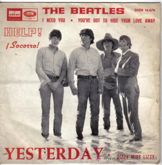 THE BEATLES HELP! 1965 (Música - Discos de Vinilo - EPs - Pop - Rock Internacional de los 50 y 60)