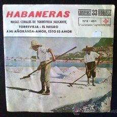 Discos de vinilo: HABANERAS. MASAS CORALES DE TORREVIEJA, ALICANTE. LP DE VINILO. Lote 33738281