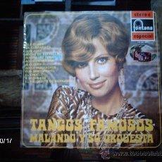 Discos de vinilo: MALANDO Y SU ORQUESTA TANGOS FAMOSOS. Lote 33744743
