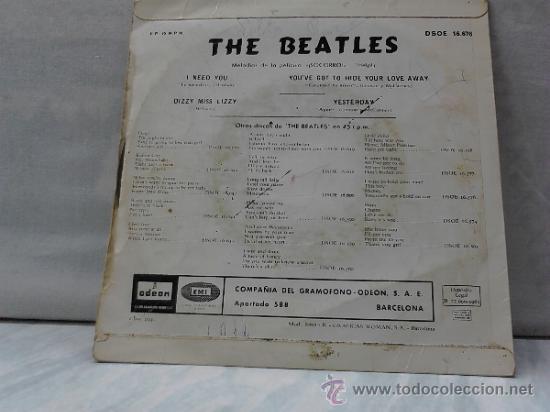 Discos de vinilo: THE BEATLES HELP! 1965 - Foto 4 - 33728518
