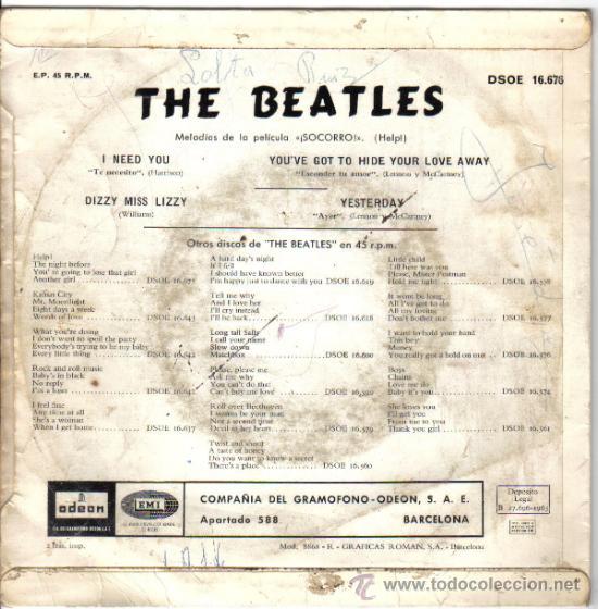 Discos de vinilo: THE BEATLES HELP! 1965 - Foto 2 - 33728518