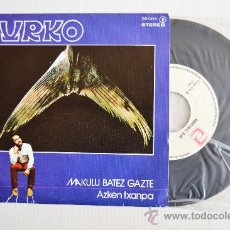 Discos de vinilo: URKO - MAKULU BATEZ GAZTE/AZKEN TXANPA (ZAFIRO SINGLE 1979) ESPAÑA. Lote 33741649