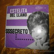 Discos de vinilo: ESTELITA DEL LLANA. CON PORFIRIO JIMENEZ Y SU ORQUESTA.SECRETO. EP.EDITADO EN VENEZUELA. Lote 152180485