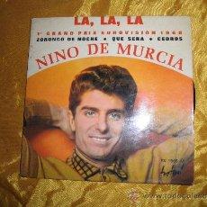 Discos de vinilo: NIÑO DE MURCIA- 1º PREMIO EUROVISION 1968. LA, LA, LA. EP. EDICION FRANCESA. Lote 33744984
