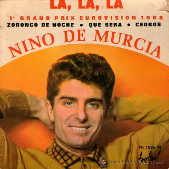 NINO DE MURCIA - EP SINGLE 7 - EDITADO EN FRANCIA - LA, LA, LA (EUROVISION 1968) + 3 - FESTIVAL 1968 (Música - Discos de Vinilo - EPs - Solistas Españoles de los 50 y 60)