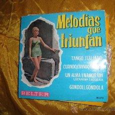 Discos de vinilo: ERNESTO BONINO. MELODIAS QUE TRIUNFAN. TANGO ITALIANO + 3 .EP. BELTER 1962. Lote 33769222
