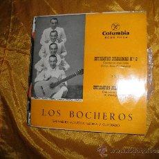 Discos de vinilo: LOS BOCHEROS. GARAMENDI,MONTOYA,MEDINA Y CUADRADO. ESTAMPAS BILBAINAS Nº 2 Y Nº 3 . COLUMBIA 1959 . Lote 33769268