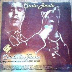Discos de vinilo: CHININ DE TRIANA ACOMPAÑADO LA GUITARRA POR EMILIO BONET . Lote 33779081